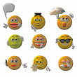 Royalty-Free Stock Photo: Emoticons - smileys