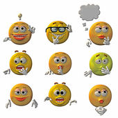 Emoticons - smileys — Stockfoto