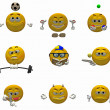 Emoticons - smileys — Stock Photo