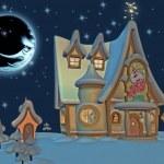 Santa's Home — 图库照片