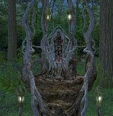 фантазия трон — Стоковое фото
