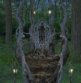 Fantasy throne — Stock Photo