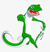 Running Gecko — Stock Photo