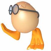 Ankungar i ett ägg — Stockfoto