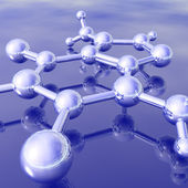 Molécula renderizada 3d — Foto Stock