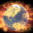 Burning earth — Stock Photo
