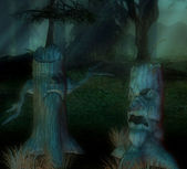 Creepy trees — Stock Photo