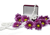 Pearl beads — Stock Photo