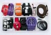 Сolorful women's belts — Stock Photo