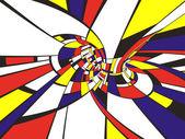 Abstract 3D Mondrian image — Stock Photo