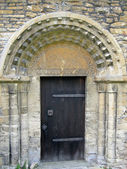 Outside church door — Stock Photo