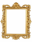 Antique gold Frame isolated — Stock Photo