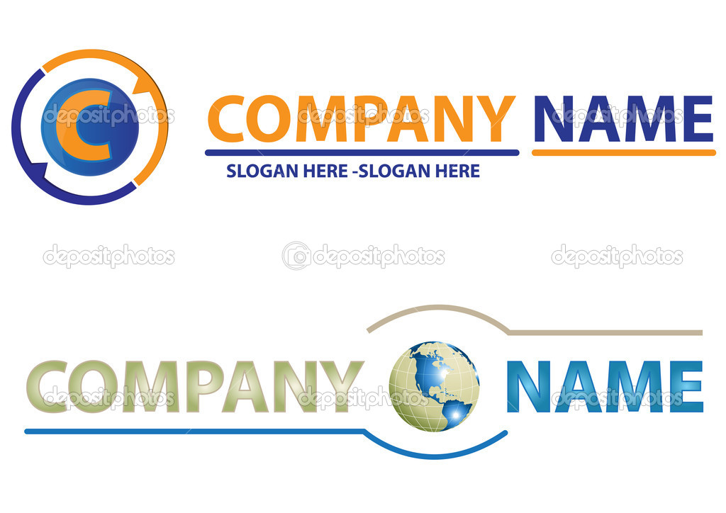 Set of corporate logos — Stock Vector #5045587