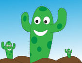 Happy Cactus — Stock Vector