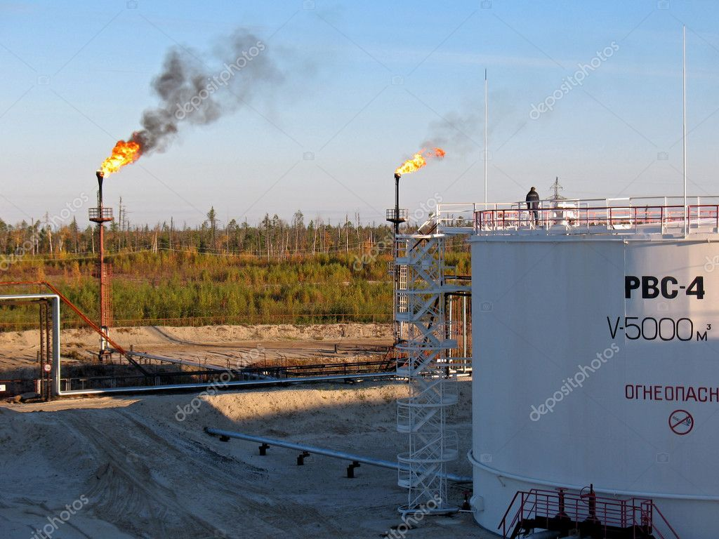 Oil storage in west Siberia. — Stock Photo #5010100