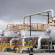 Stock Photo: Refinery center