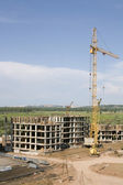 Crane on a construction site — Stock Photo