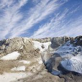 Snow cliff — Stock Photo