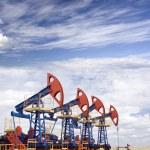 Oil field overcast — Stock Photo