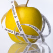 Stock Photo: Biologic yellow apple