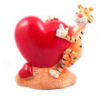 Royalty-Free Stock Photo: Heart and tiger