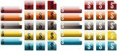 Set of dollar icons — Stock Photo
