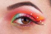 Fantastic make up eye — Stock Photo