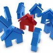 3D house symbol — Stock Photo