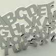3d Alphabet — Stock Photo