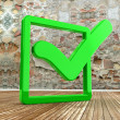 Green check mark — Stock Photo