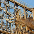 Stock Photo: Wooden rollercoaster