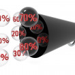 Percentage — Stock Photo
