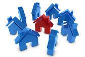 3D house symbol — Stock Photo