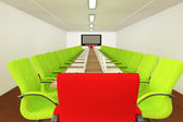 Conference room with empty chairs — Stock Photo