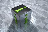 3D info symbol — Stock Photo