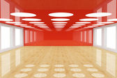 Red empty room — Stock Photo