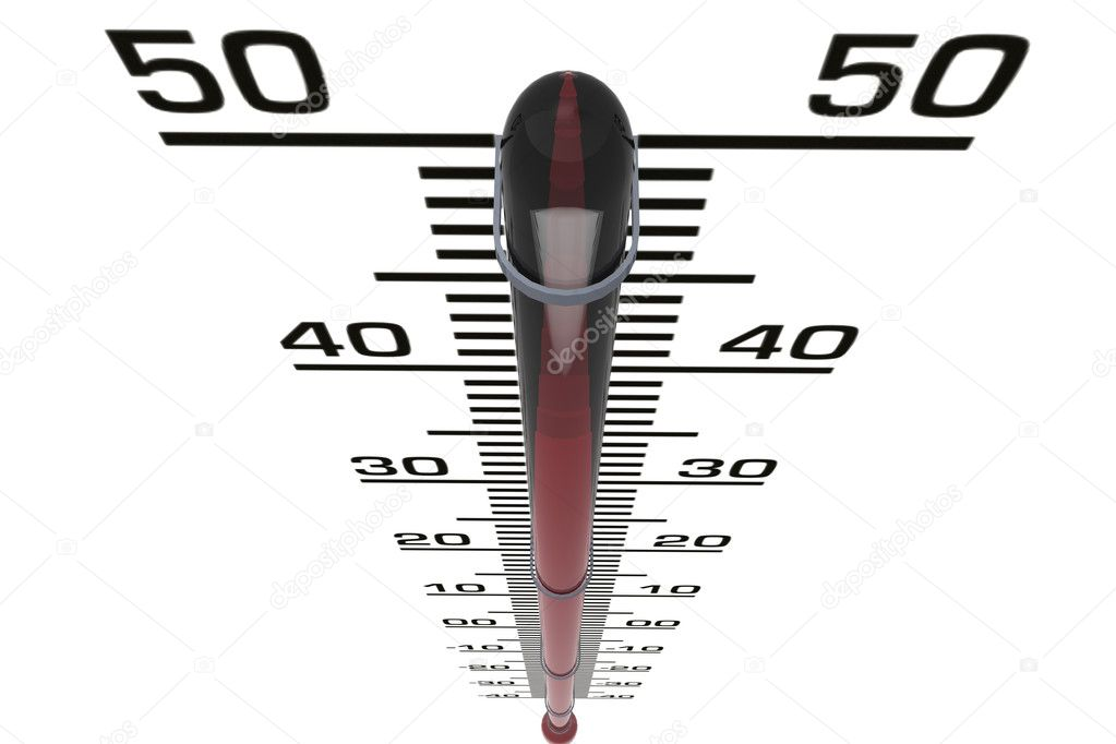 3d rendering thermometer isolated on white — Stock Photo #5036980