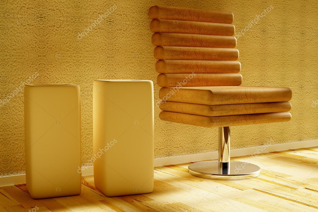 Interior room with two vase  Stock Photo #5037179