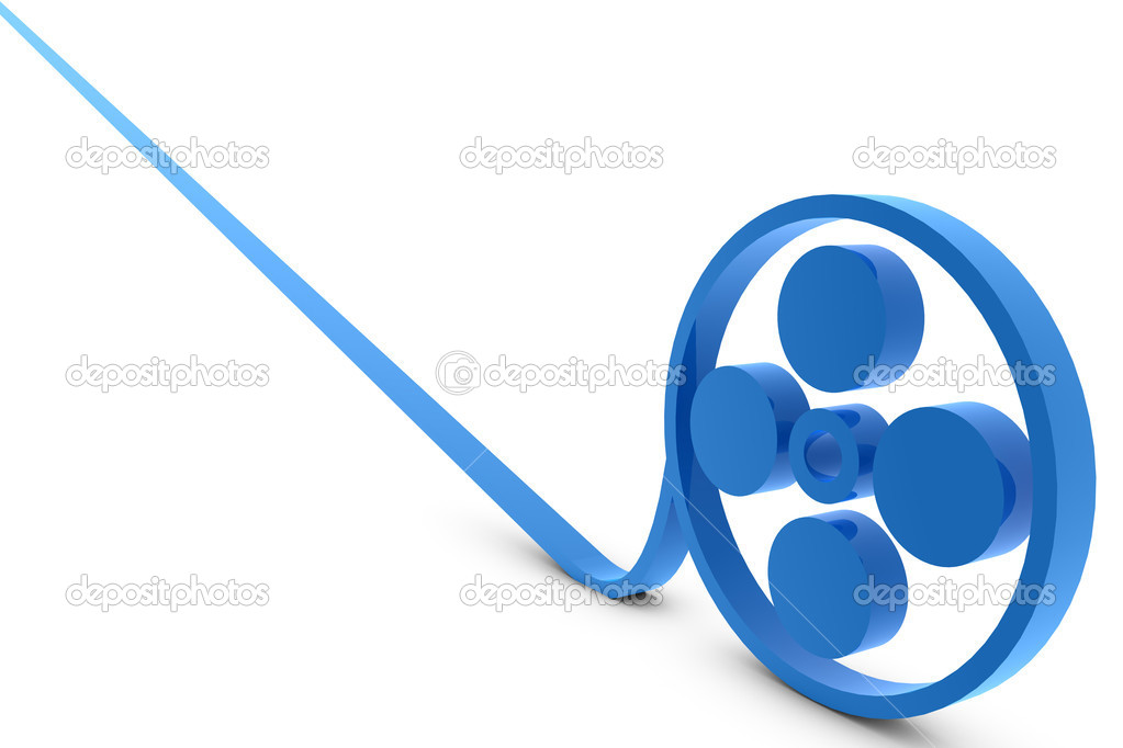 Illustration of a film reel  Stock Photo #5037482
