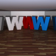 Three dimensional www letter — Stock Photo