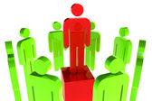 Concepto de liderazgo — Foto de Stock