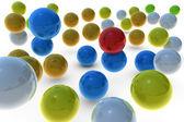Andere kleur bollen — Stockfoto