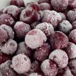 Stock Photo: Frozen pitted cherries