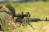 The military sniper — Stock Photo