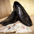 Black varnish shoes - Stock Photo