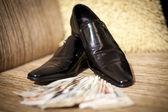 Black varnish shoes — Stock Photo