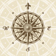Vintage compass rose — Vector de stock