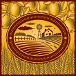 Retro farm - Stock Vector
