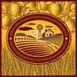 Retro farm — Stock Vector