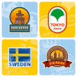 Travel stickers set — Stock Vector #5043577